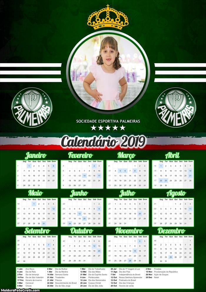 Calendário Time Palmeiras 2019