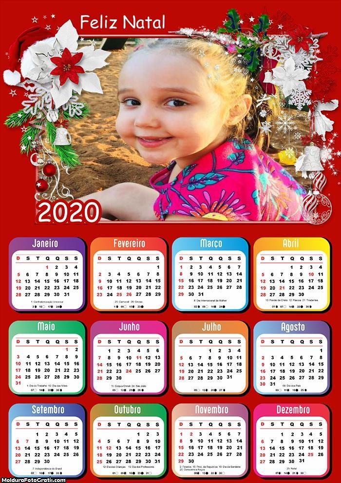 Calendário Flores de Natal 2020