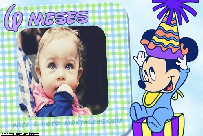 Minnie Baby 6 Meses Moldura