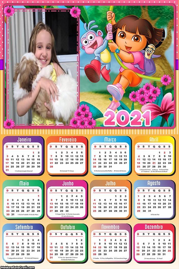Calendário Dora Aventureira 2021