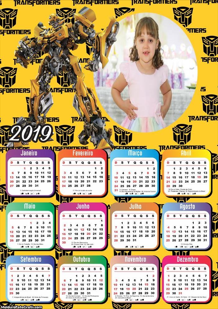 Calendário Tranformers 2019