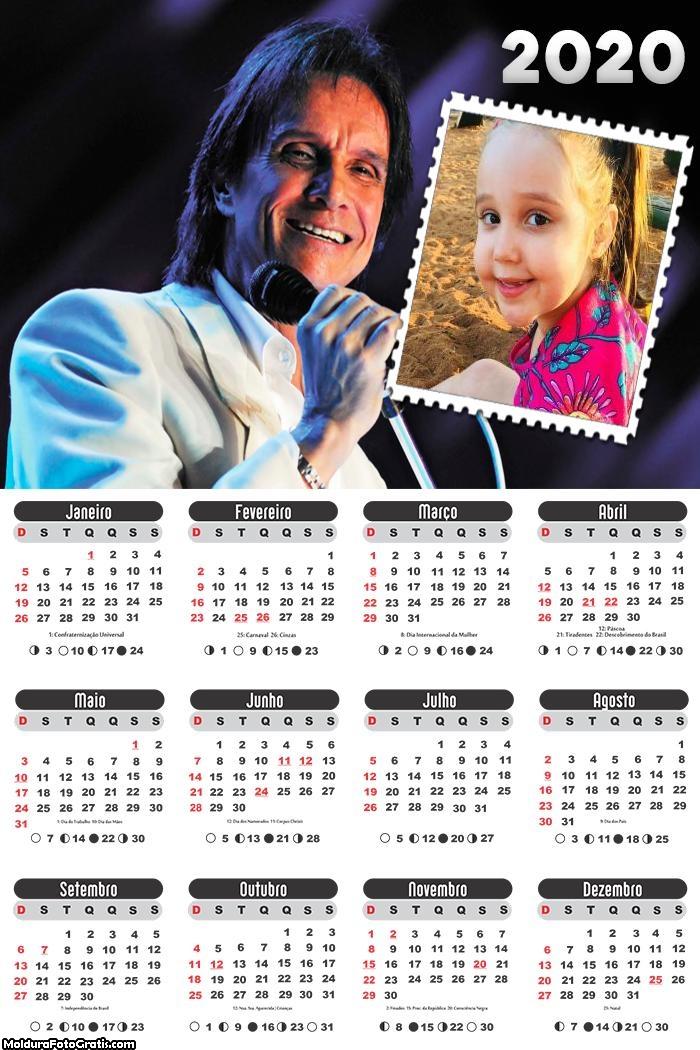 Calendário Rei Roberto Carlos 2020