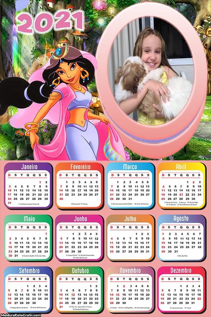 Calendário Jasmine 2021