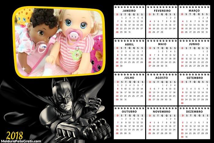 Calendário Batman 2018