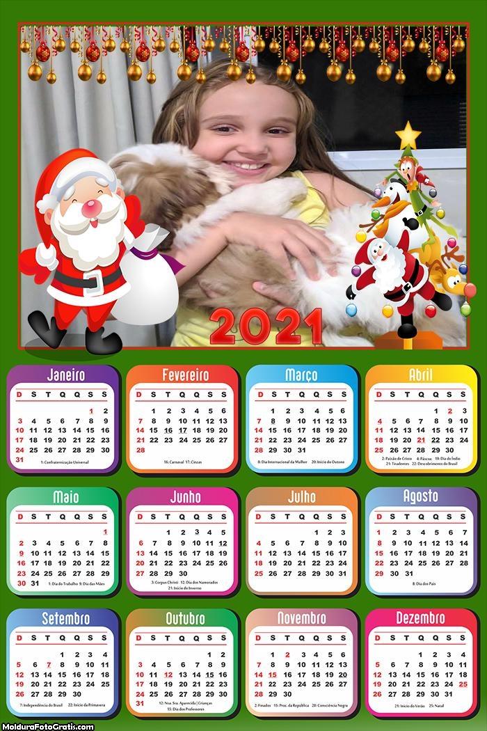 Calendário Noel Natal 2021