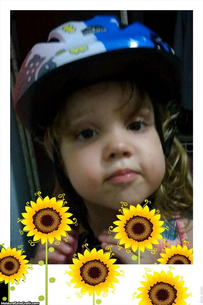 Fazer Colagem de Fotos Girassol Amarelo