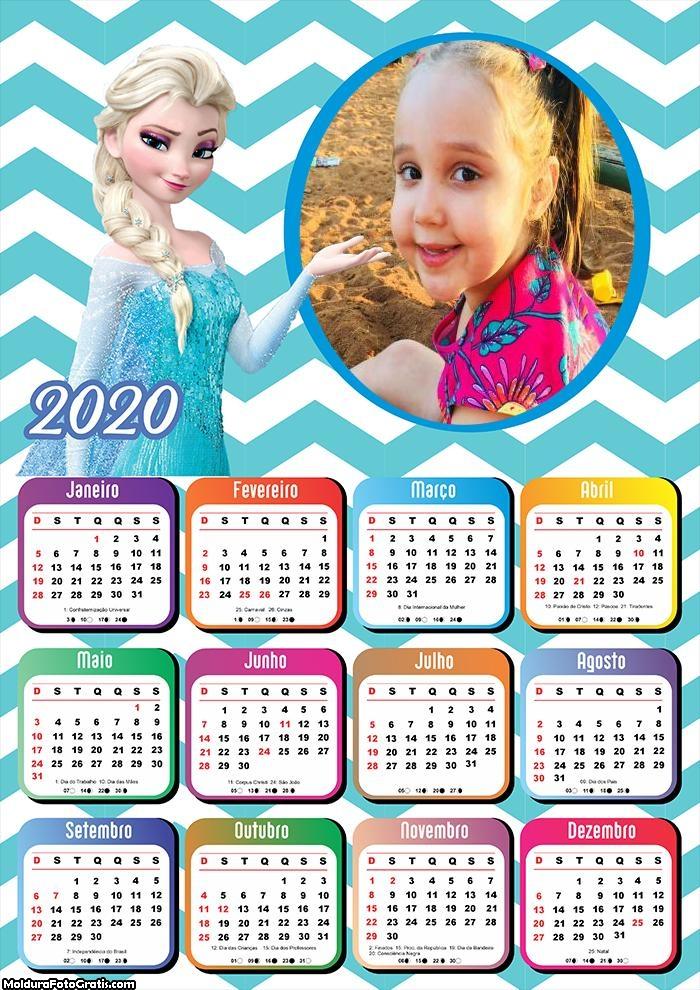 Calendário Elsa Frozen 2020