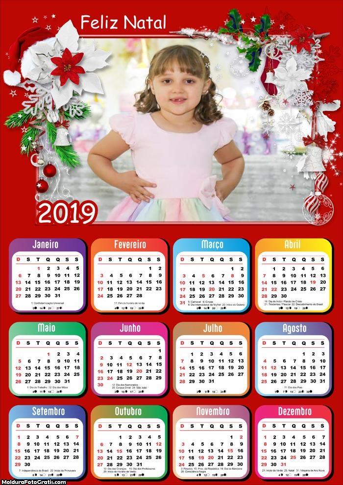 Calendário Moldura Feliz Natal 2019