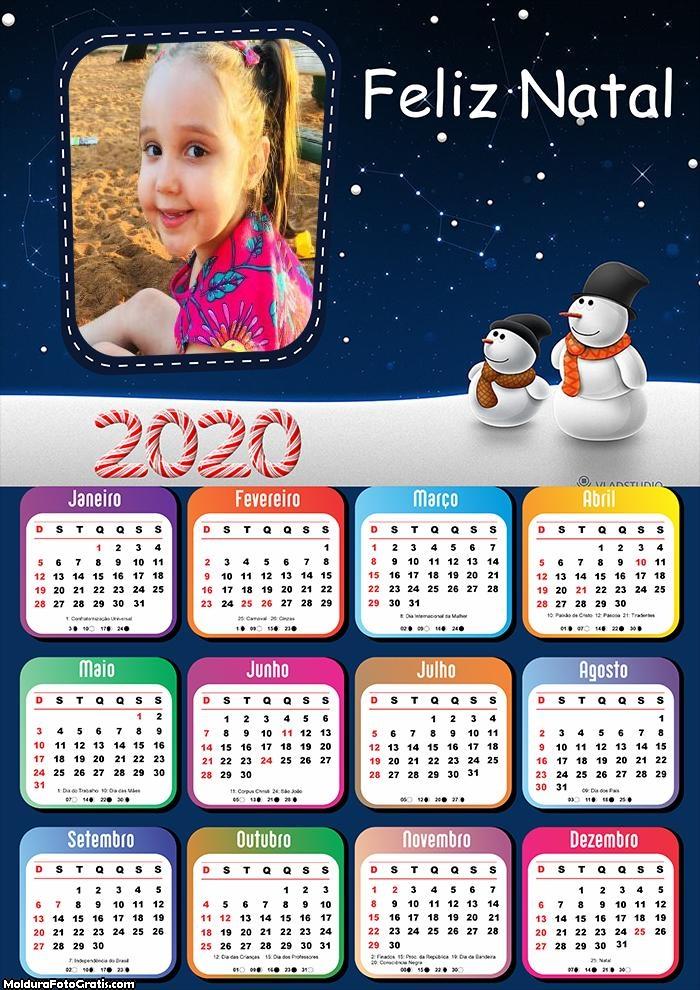 Calendário Bonequinhos de Neve 2020