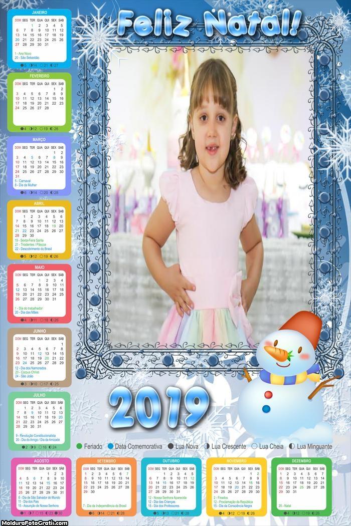Calendário Boneco no Gelo 2019