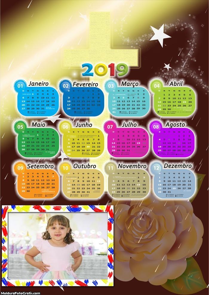 Calendário de Rosa e Cruz 2019