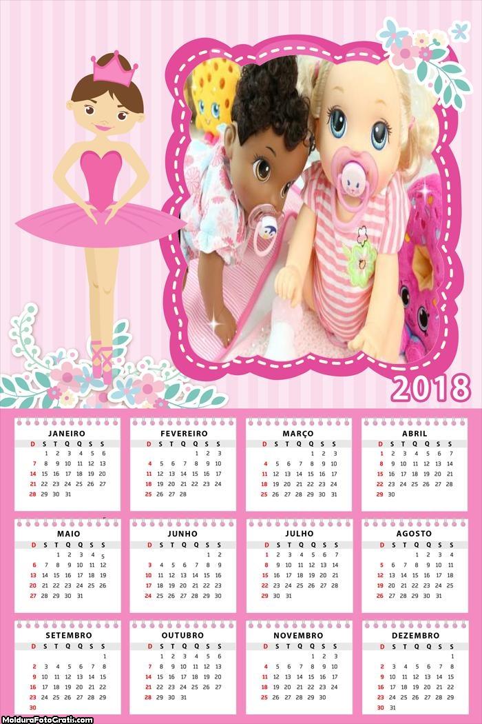 Calendário Bailarina 2018
