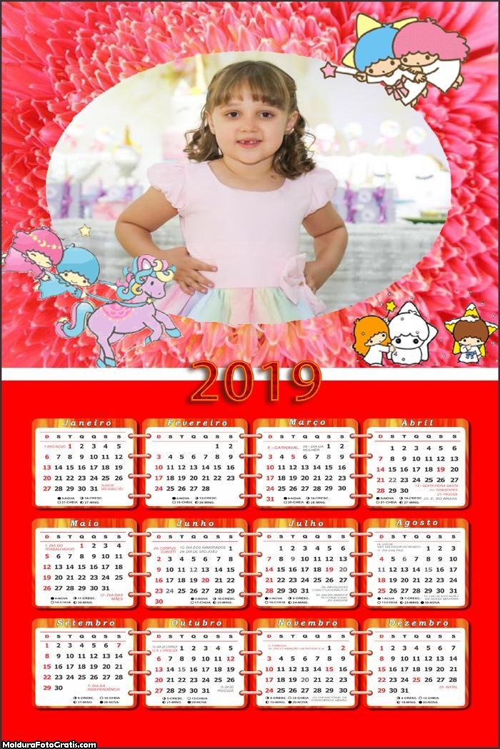 Calendário Anjinhos 2019 Moldura