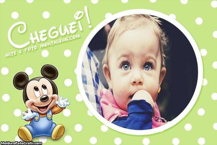 Mickey Baby Cheguei Moldura
