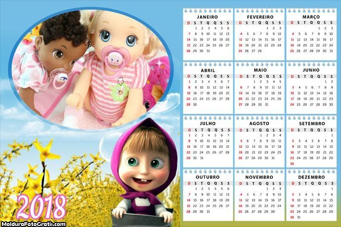 Calendário Masha 2018