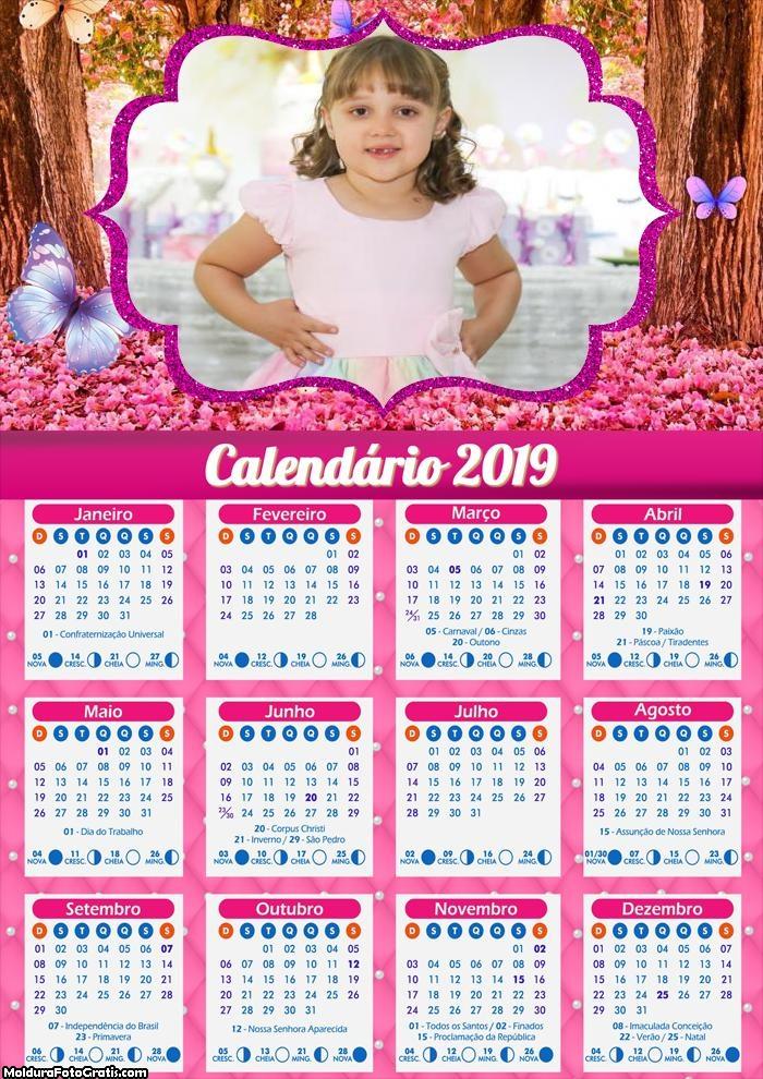 Calendário Jardim das Borboletas 2019