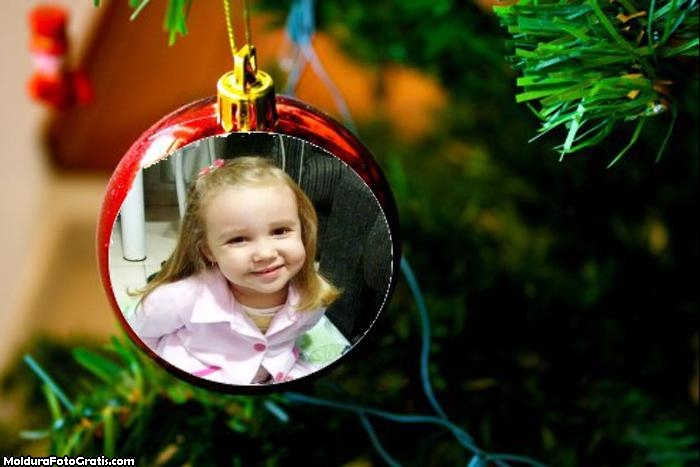 Foto Moldura Bola da Árvore de Natal