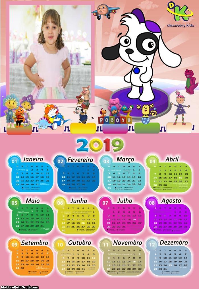 Calendário Doki 2019 Moldura