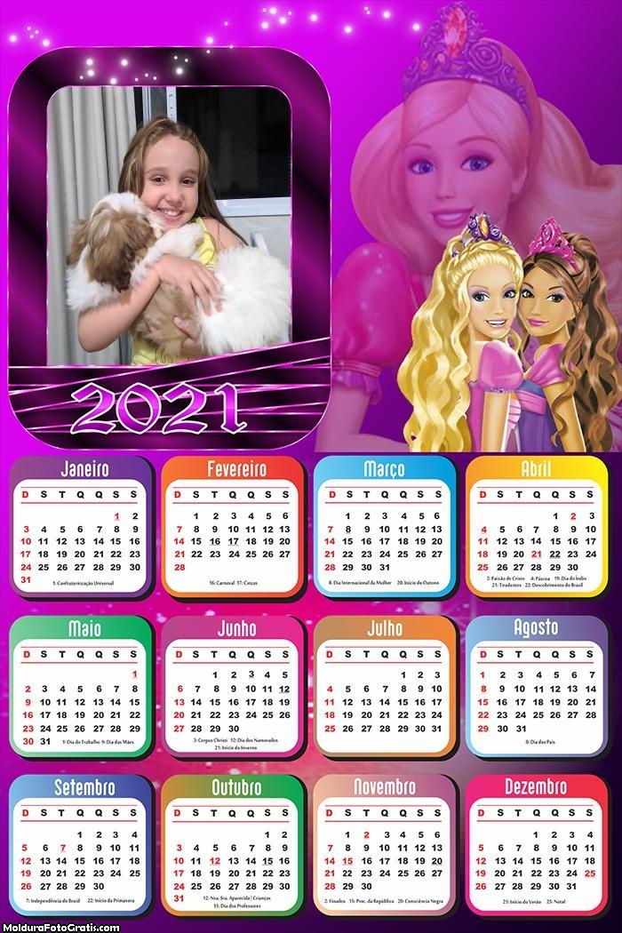 Calendário Barbie Amiga 2021