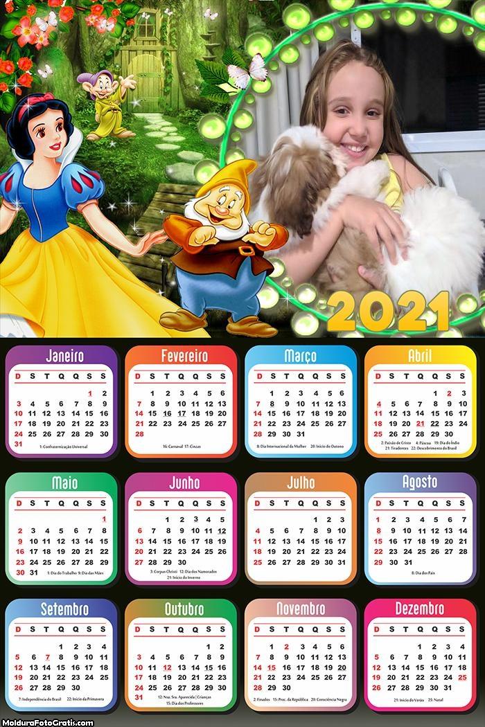 Calendário Branca de Neve 2021