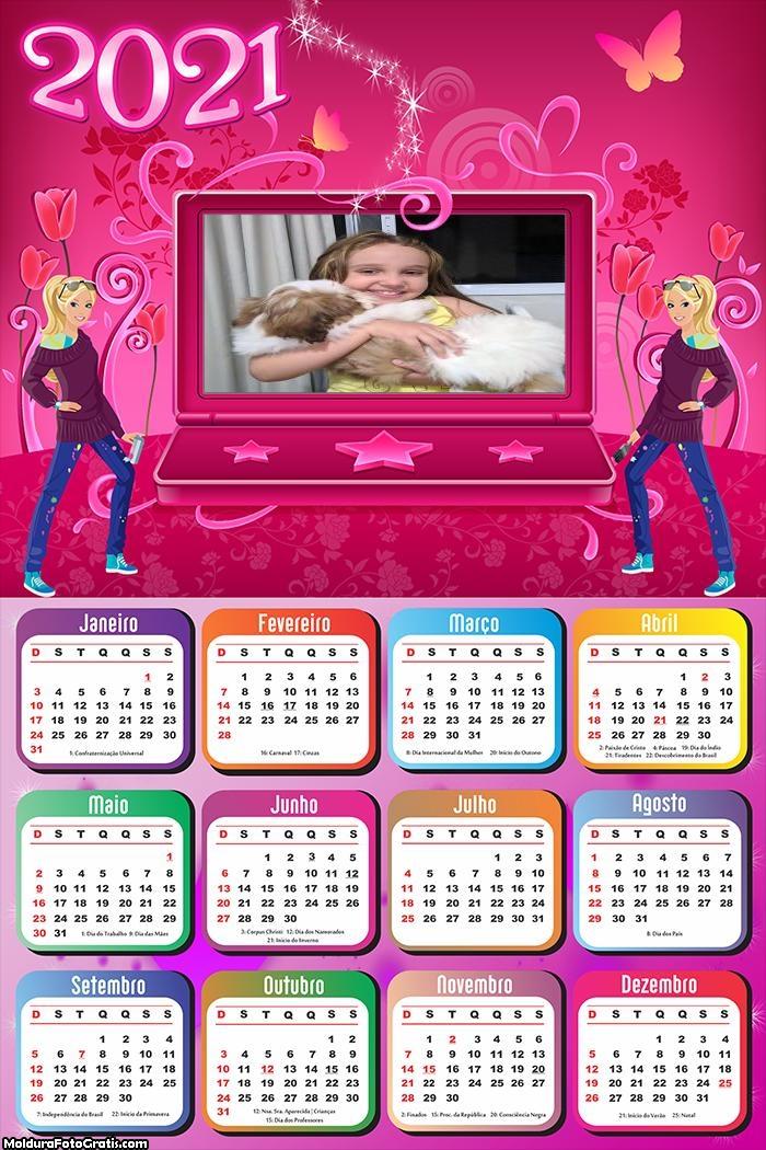 Calendário Notebook Barbie 2021