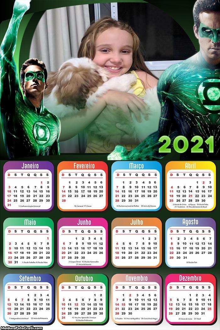 Calendário Lanterna Verde 2021
