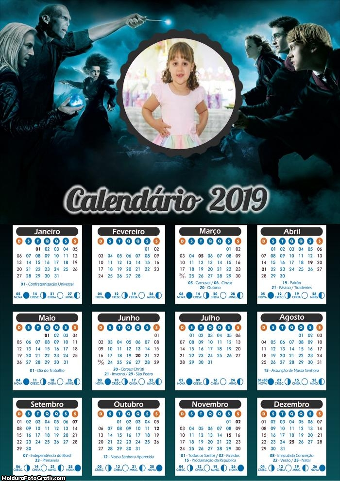 Calendário do Harry Potter 2019