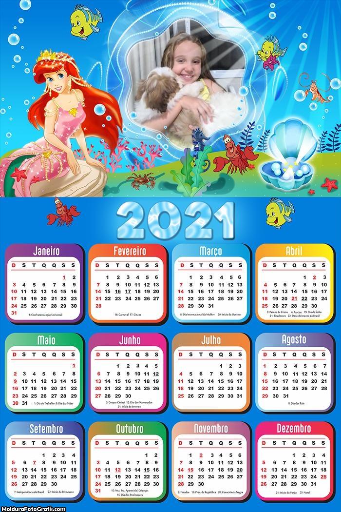 Calendário Ariel Desenho 2021