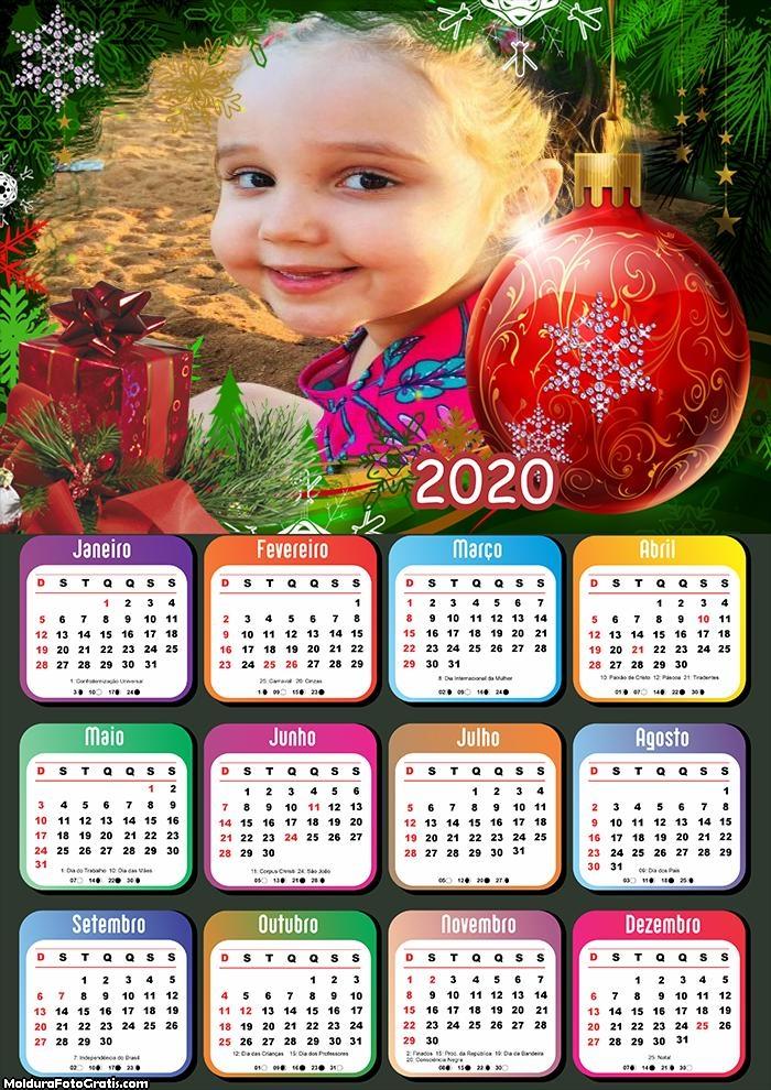Calendário Bola de Enfeite de Natal 2020