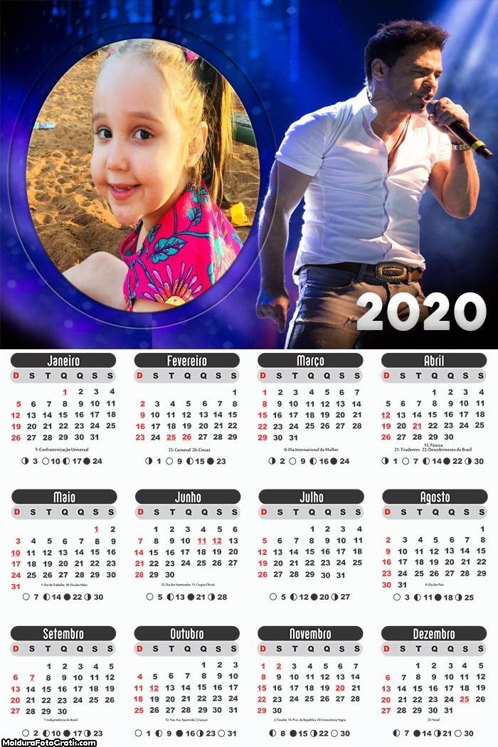 Calendário Zezé Di Camargo 2020