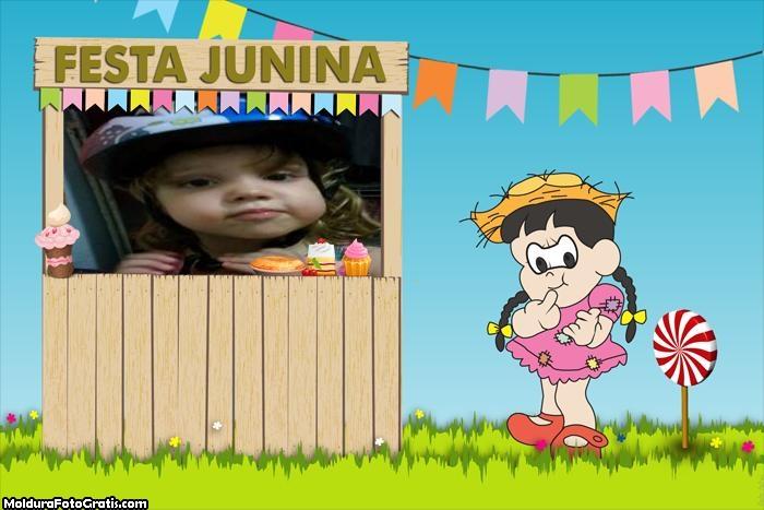 Menina Festa Junina Foto Montagem