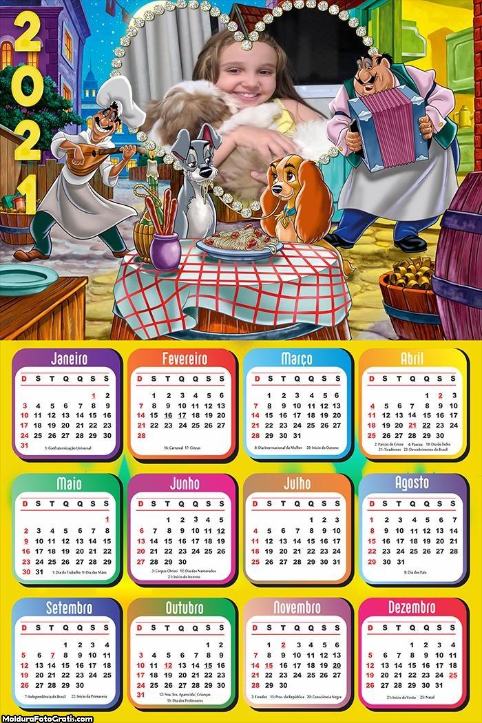 Calendário A Dama e o Vagabundo 2021