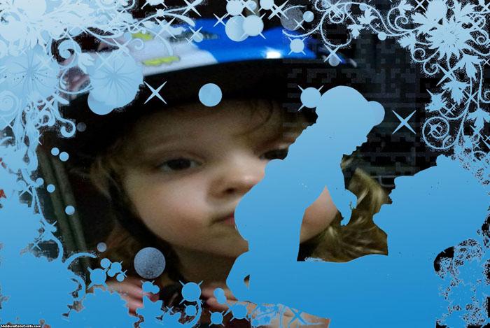 Dia dos Pais Azul Foto Moldura