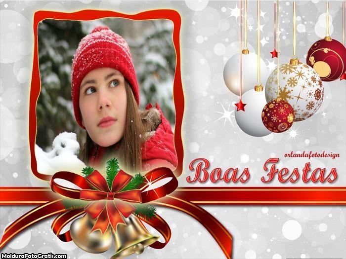 Moldura Boas Festas Natalina