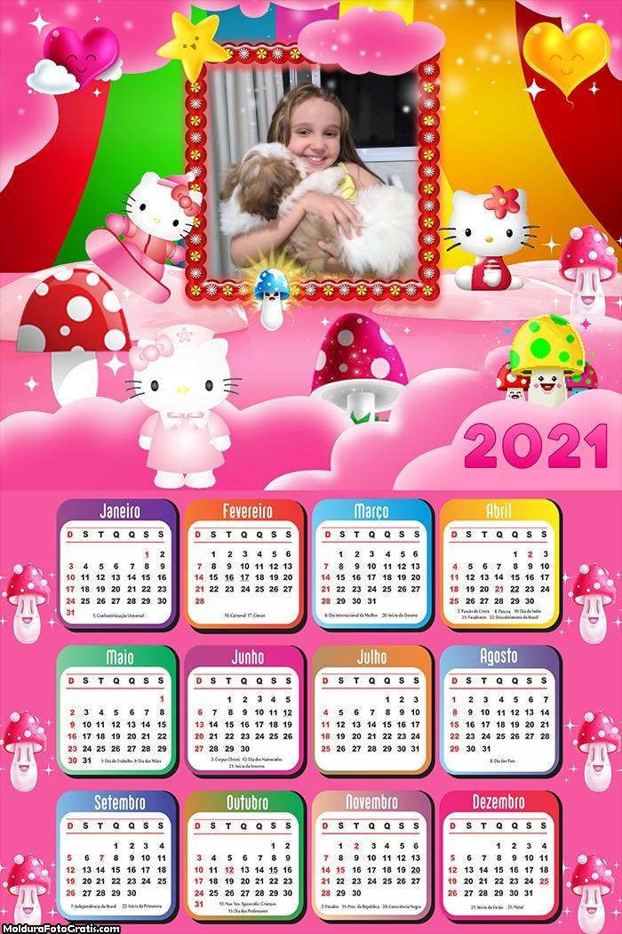 Calendário Desenho Hello Kitty 2021