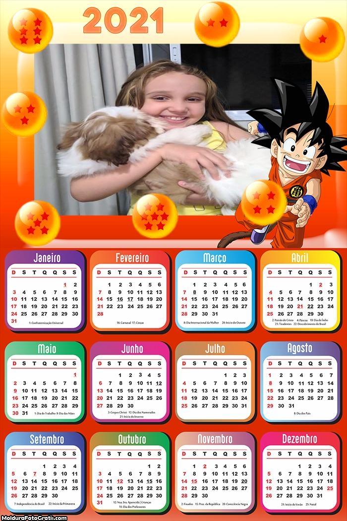 Calendário Dragon Ball 2021
