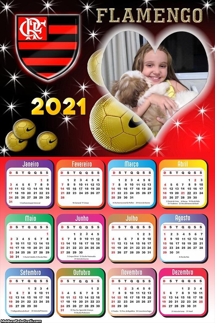Calendário Coração Flamengo 2021