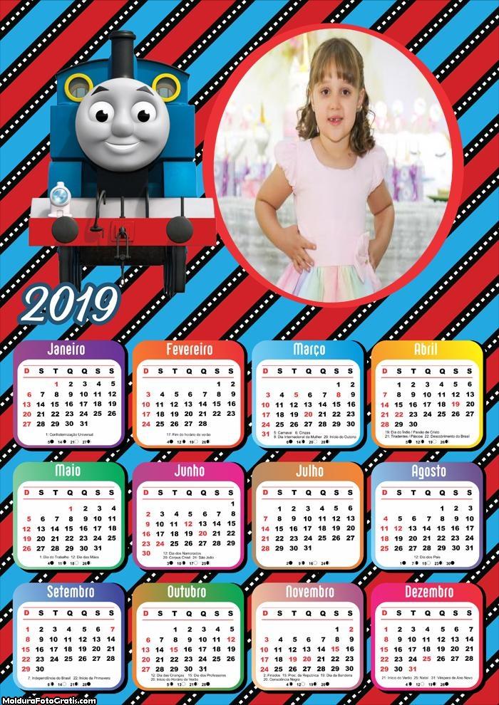 Calendário Thomas o Trenzinho 2019