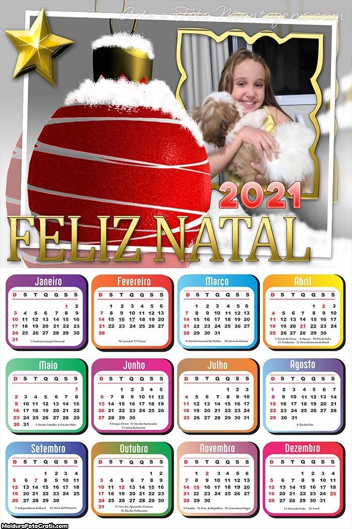 Calendário Bola Natalina 2021