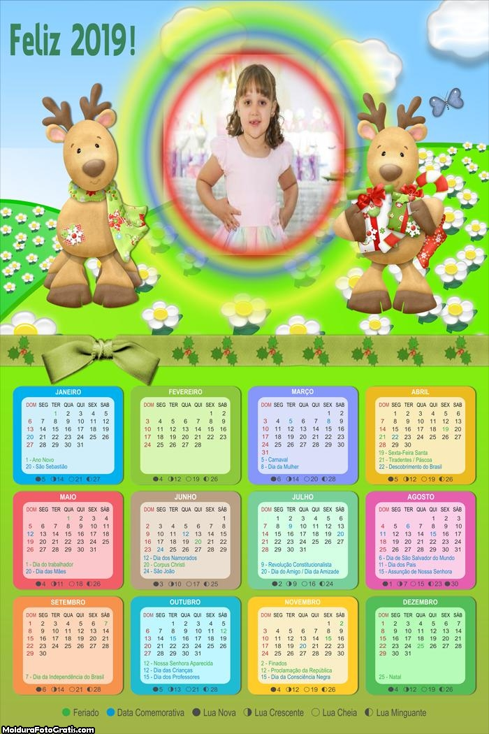 Calendário Renas com Presentes 2019