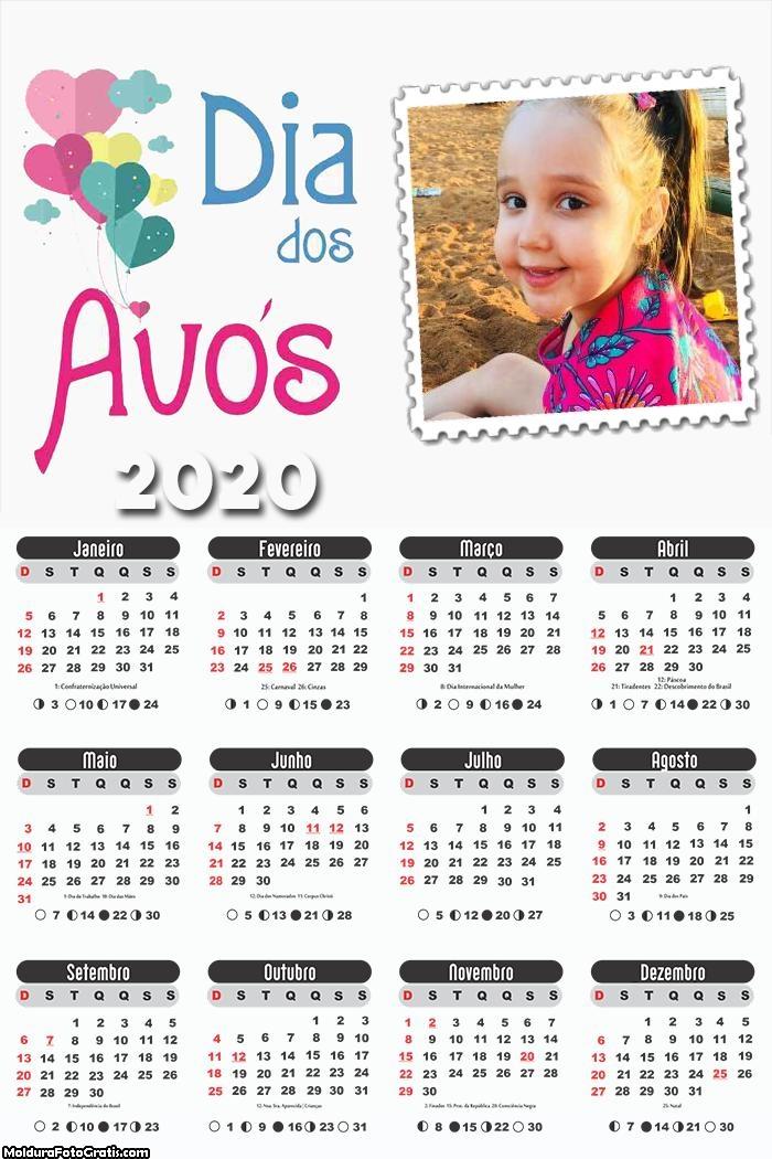 Calendário Dia dos Avós 2020