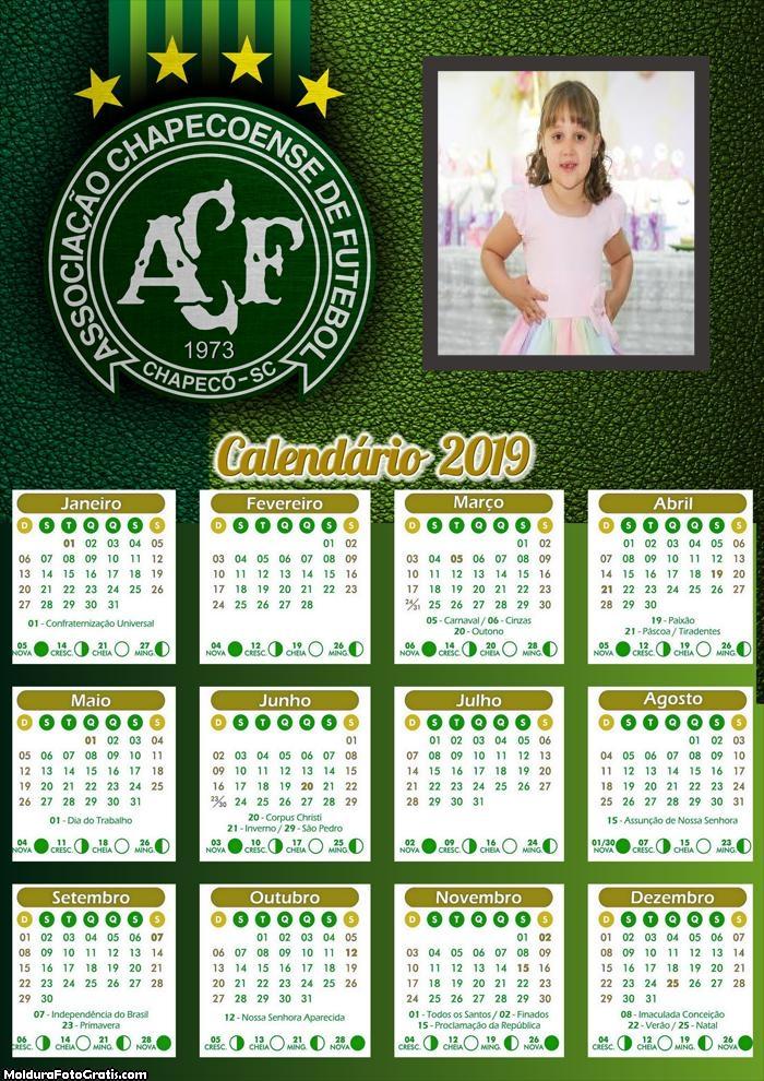 Calendário da Chapecoense 2019