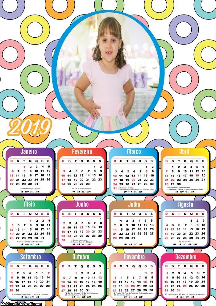 Calendário Bolinhas 2019