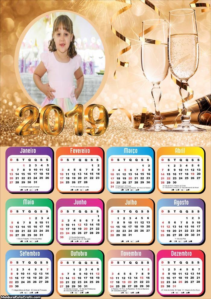 Calendário Festa de Réveillon 2019