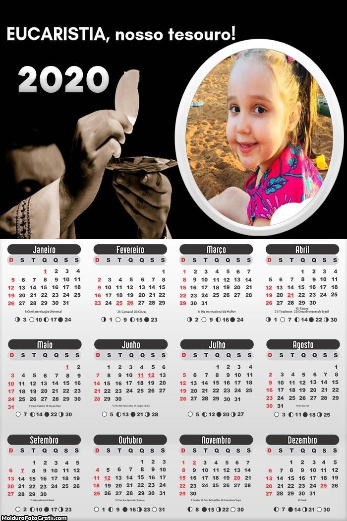 Calendário Eucaristia 2020