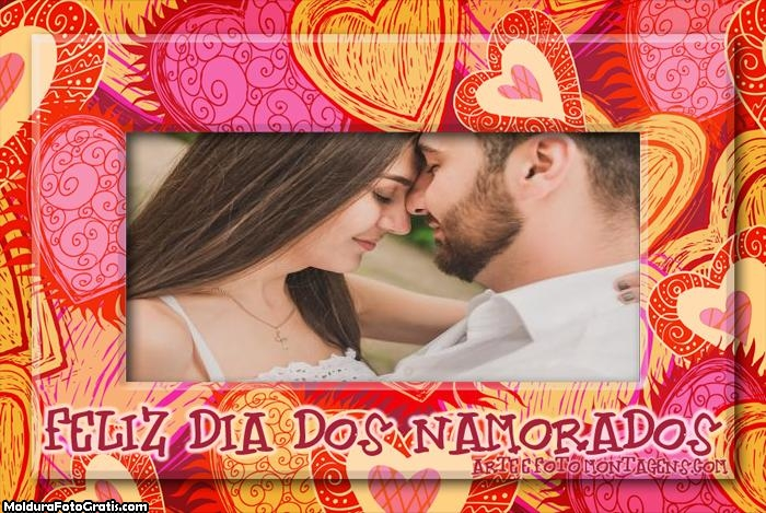 Feliz Dia dos Namorados Colagem de Foto