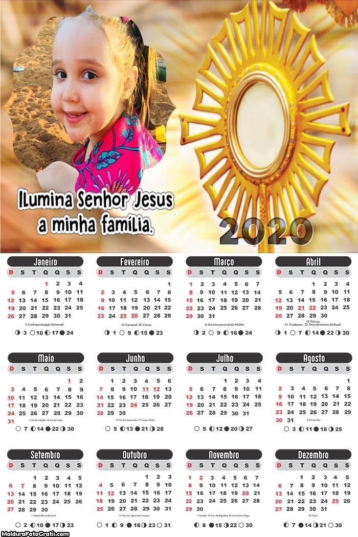 Calendário Senhor Jesus 2020