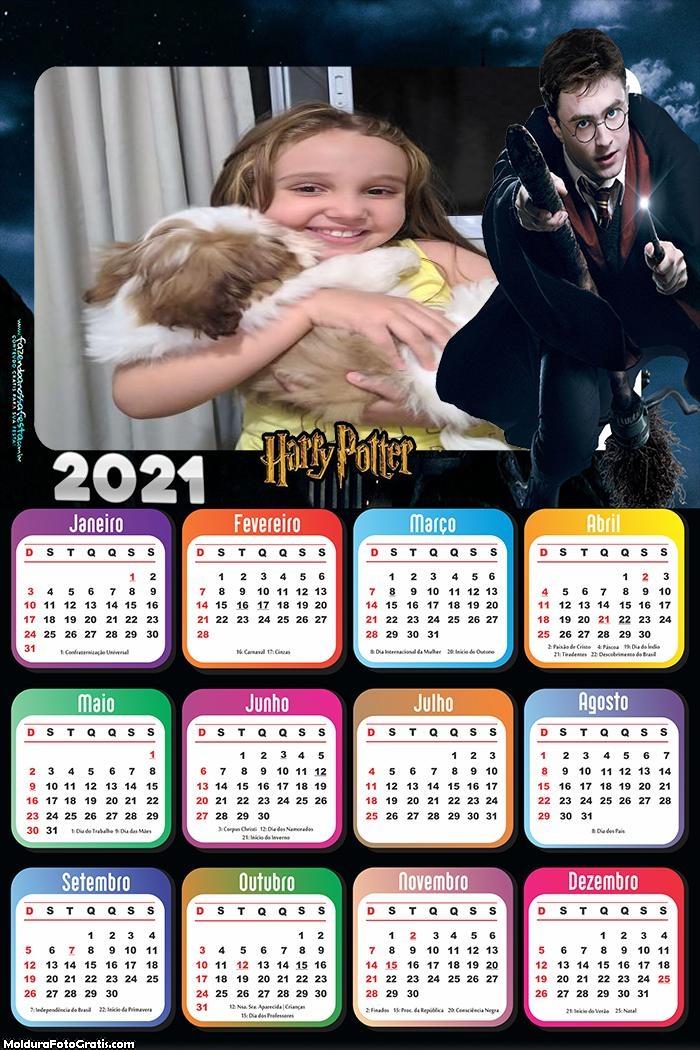 Calendário Harry Potter 2021
