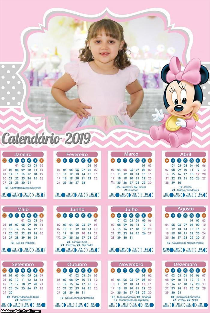 Calendário da Minnie Baby 2019