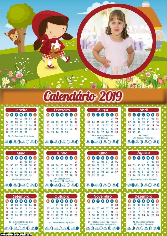 Calendário da Chapeuzinho 2019